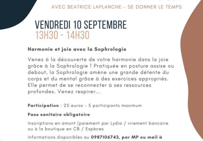 Sophrologie chez Bizialdi à Biarritz