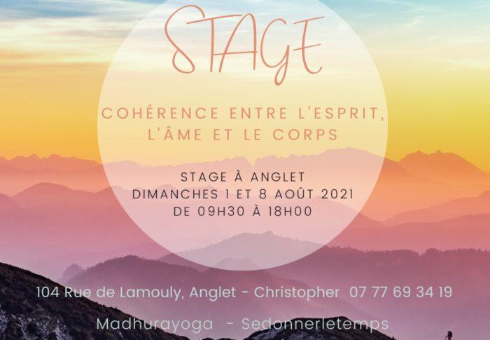 Cohérence de Esprit, l'âme et du corps – Stage les Dimanches 1er et 08 Août à Anglet